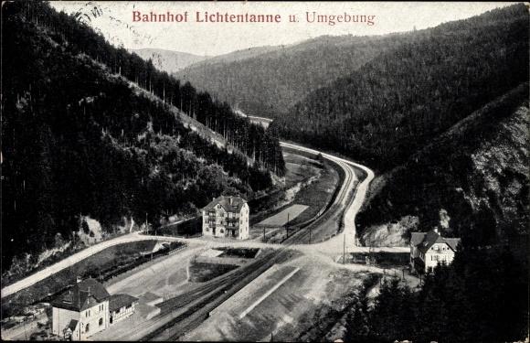 Carte postale Lichtentanne Probstzella Thüringen, Blick
